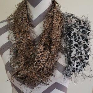 Jewelry - 2 small infinity neck scarfs.. scarf neklaces